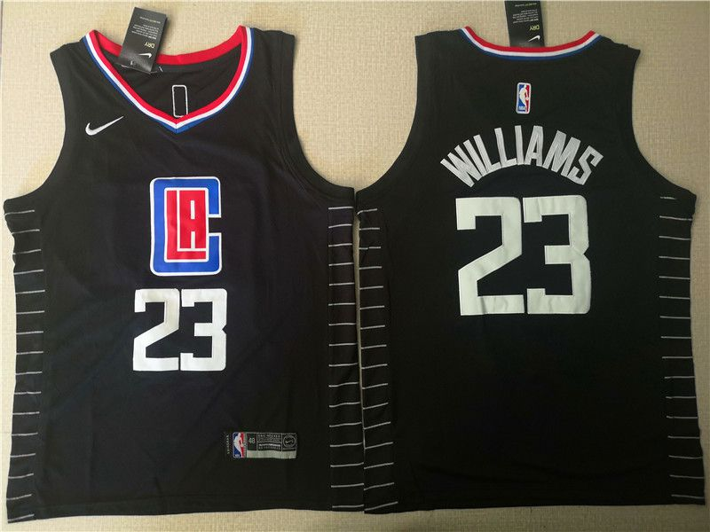 Men Los Angeles Clippers 23 Williams Black Nike Game NBA Jerseys