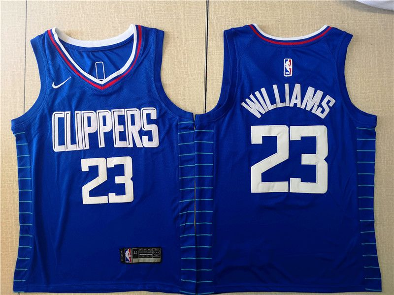 Men Los Angeles Clippers 23 Williams Blue Nike Game NBA Jerseys