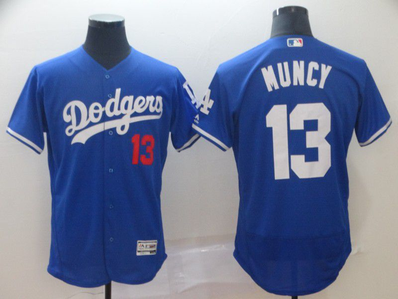 Men Los Angeles Dodgers 13 Muncy Blue Elite MLB Jersey