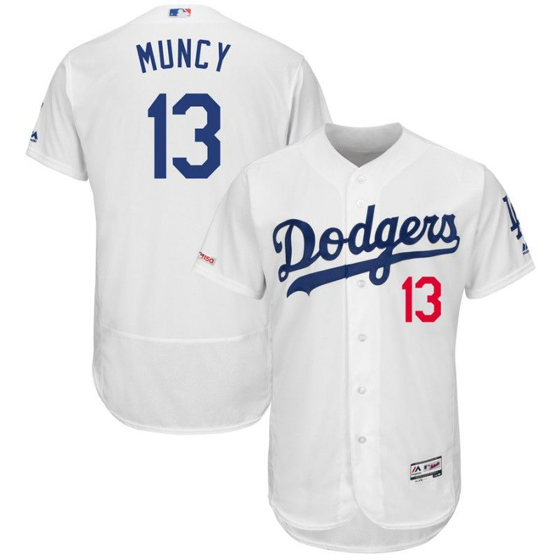 Men Los Angeles Dodgers 13 Muncy White Elite MLB Jersey