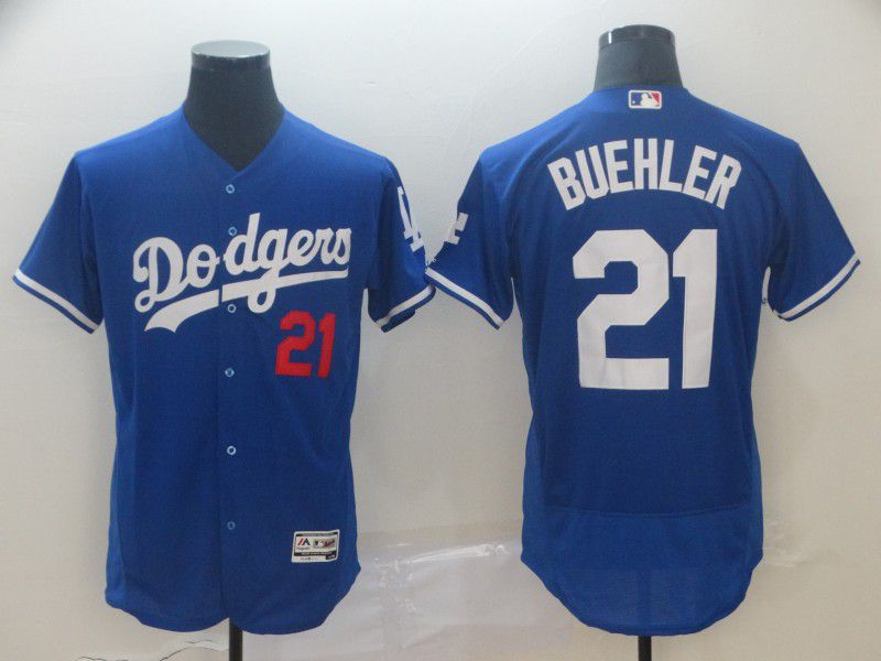 Men Los Angeles Dodgers 21 Buehler Blue Elite MLB Jersey