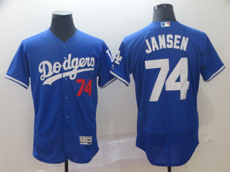 Men Los Angeles Dodgers 74 Jansen Blue Elite MLB Jersey