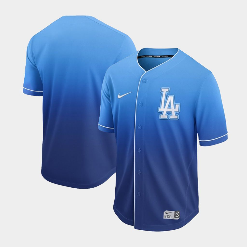 Men Los Angeles Dodgers Blank Blue Nike Fade MLB Jersey