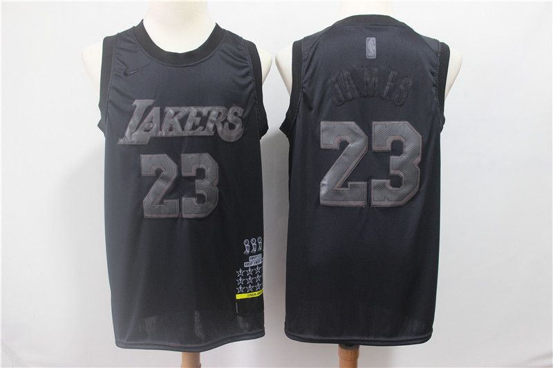 Men Los Angeles Lakers 23 James Black MVP Honorary Edition NBA Jerseys
