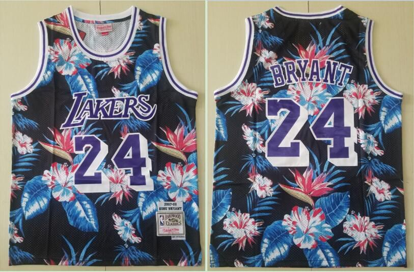 Men Los Angeles Lakers 24 Bryant Black Fashion Edition NBA Jerseys