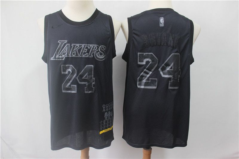 Men Los Angeles Lakers 24 Bryant Black MVP Honorary Edition NBA Jerseys