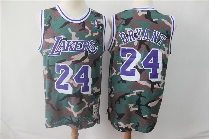Men Los Angeles Lakers 24 Bryant Jungle Camo NBA Jersyes