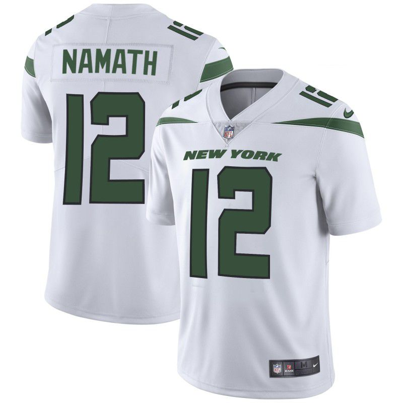 Men New York Jets 12 Namath White Nike Vapor Untouchable Limited Player NFL Jerseys
