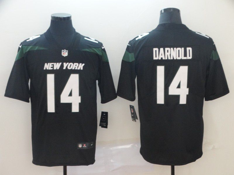Men New York Jets 14 Darnold Black Nike Vapor Untouchable Limited Player NFL Jerseys