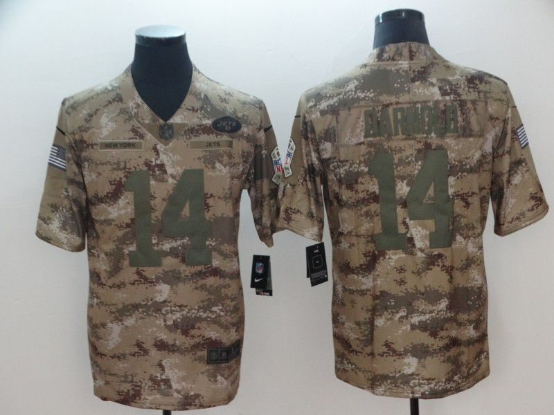 Men New York Jets 14 Darnold Camo Nike Salute To Service Limited NFL Jersey