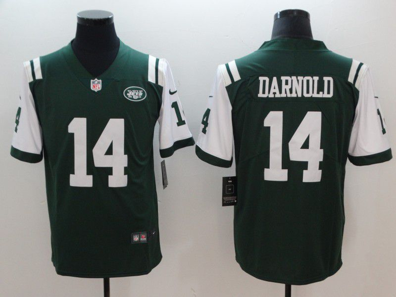 Men New York Jets 14 Darnold Green Nike Color Rush Limited NFL Jerseys