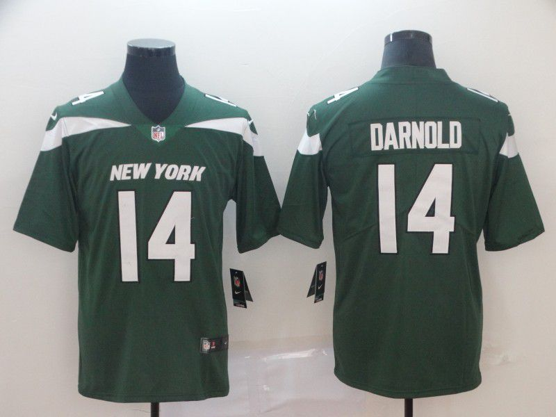 Men New York Jets 14 Darnold Green Nike Vapor Untouchable Limited Player NFL Jerseys
