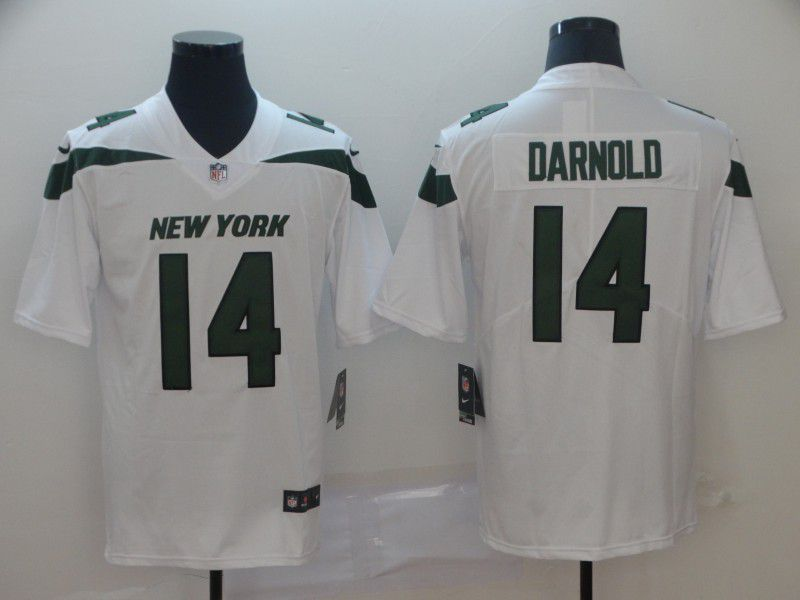Men New York Jets 14 Darnold White Nike Vapor Untouchable Limited Player NFL Jerseys