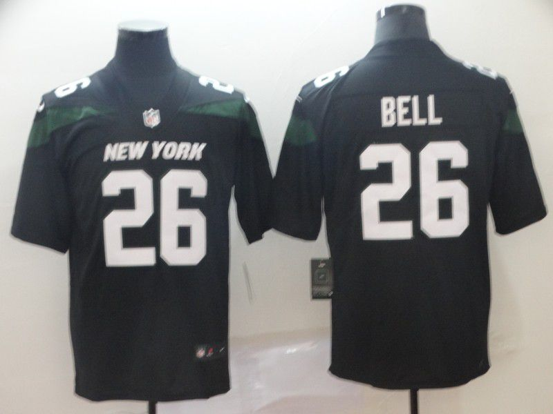 Men New York Jets 26 Bell Black Nike Vapor Untouchable Limited Player NFL Jerseys