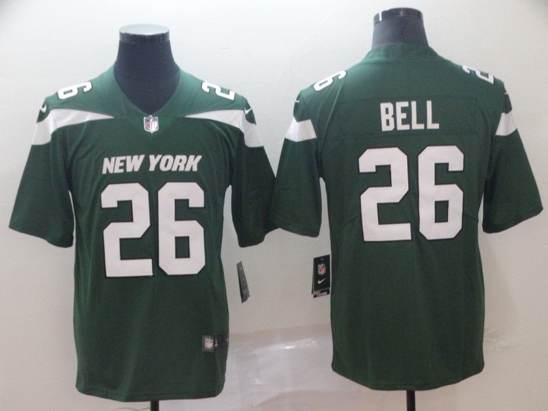 Men New York Jets 26 Bell Green Nike Vapor Untouchable Limited Player NFL Jerseys