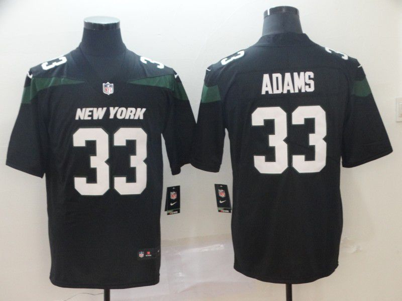 Men New York Jets 33 Adams Black Nike Vapor Untouchable Limited Player NFL Jerseys