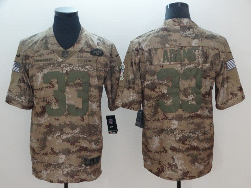 Men New York Jets 33 Adams Camo Nike Salute To Service Limited NFL Jersey