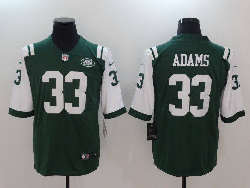 Men New York Jets 33 Adams Green Nike Color Rush Limited NFL Jerseys