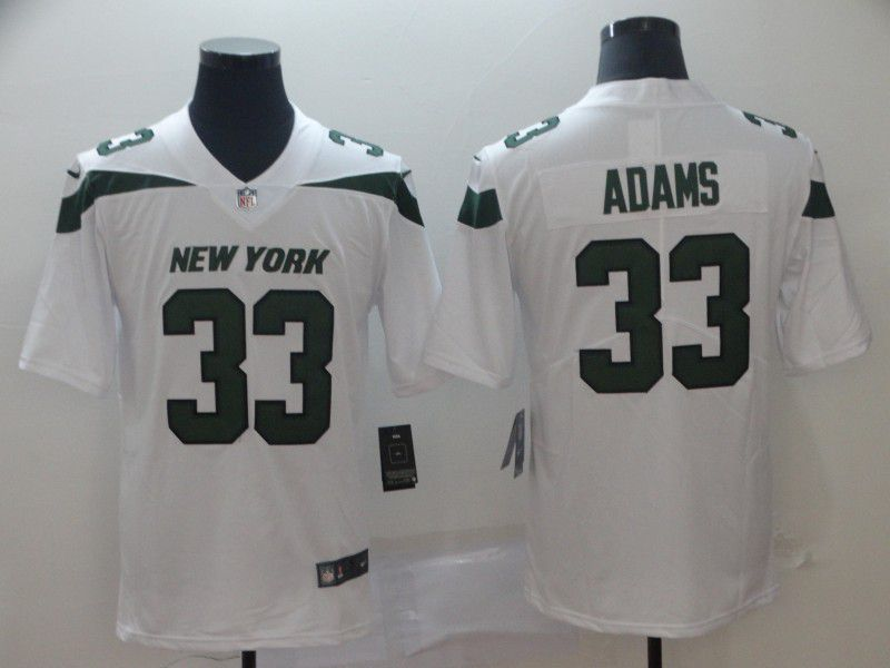 Men New York Jets 33 Adams White Nike Vapor Untouchable Limited Player NFL Jerseys