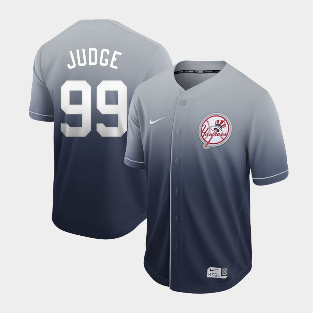 Men New York Yankees 99 Judge Nike Fade MLB Jersey