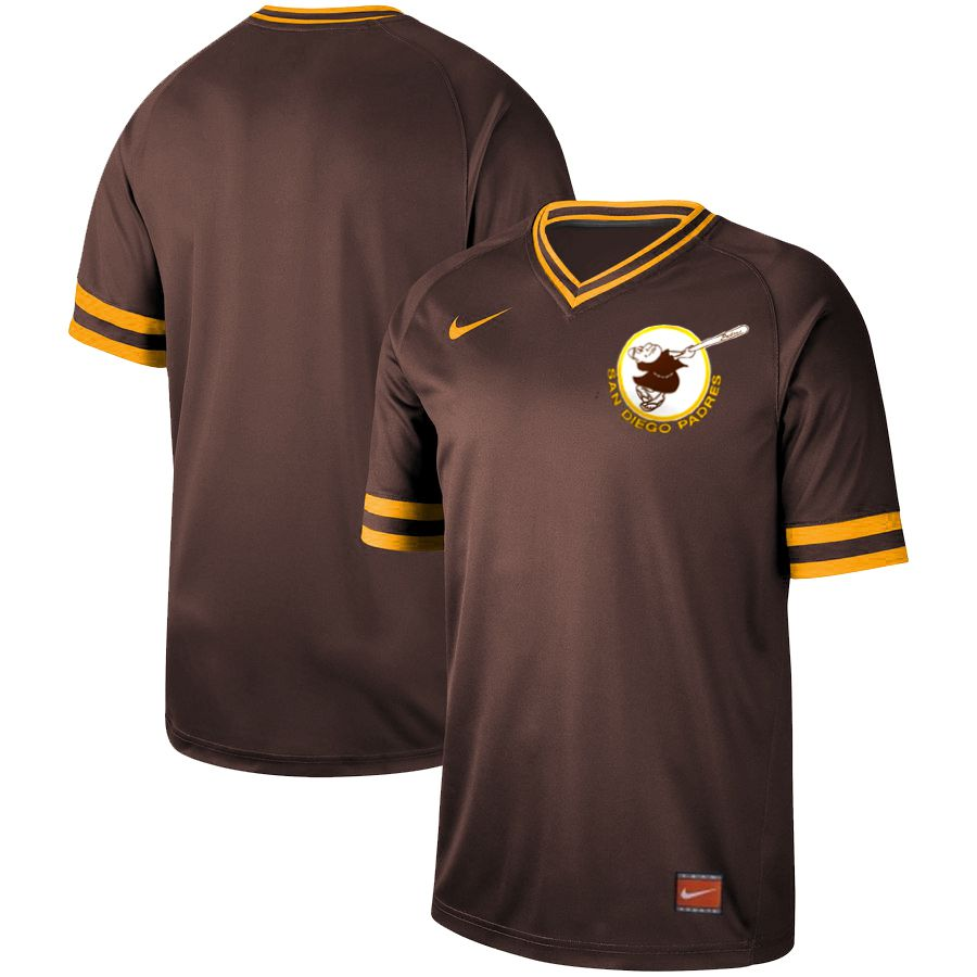 Men San Diego Padres Blank brown Nike Cooperstown Collection Legend V-Neck MLB Jersey