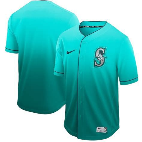 Men Seattle Mariners Blank Green Nike Fade MLB Jersey