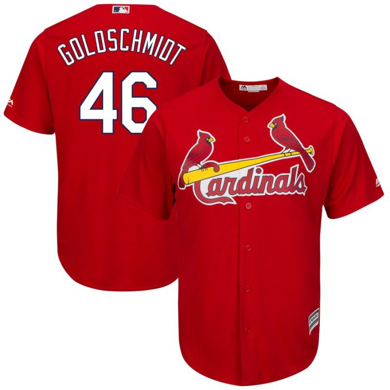 Men St. Louis Cardinals 46 Goldschmidt Red Game MLB Jersey