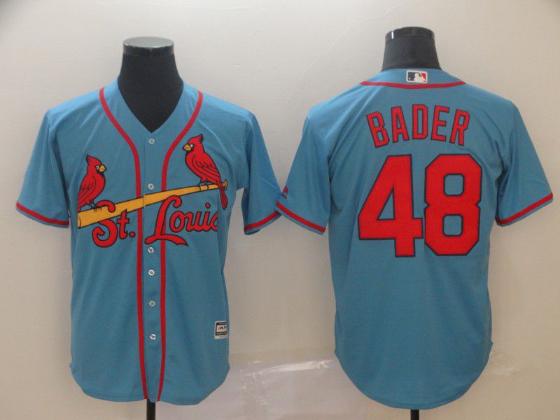 Men St. Louis Cardinals 48 Bader Blue Game MLB Jersey