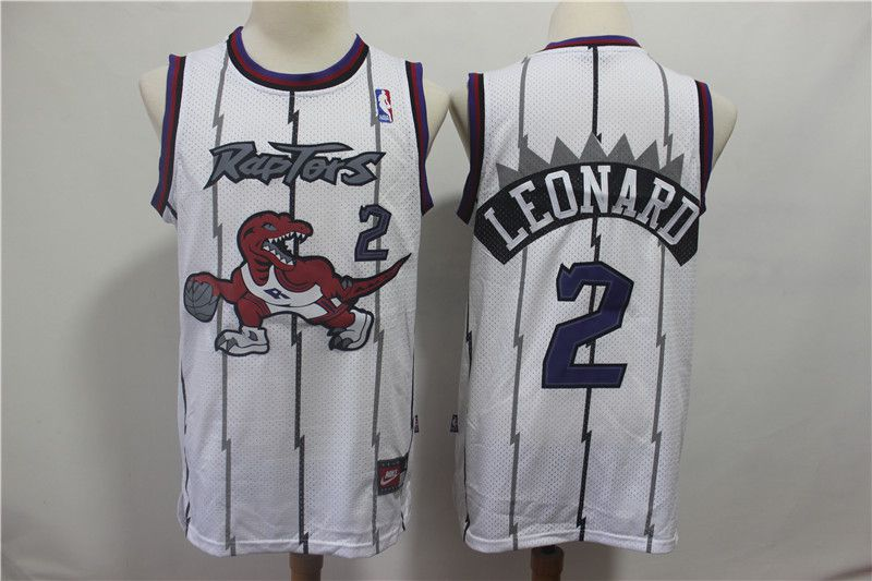Men Toronto Raptors 2 Leonard White NBA Jerseys