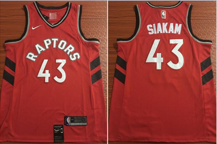 Men Toronto Raptors 43 Siakam Red Nike Game NBA Jerseys
