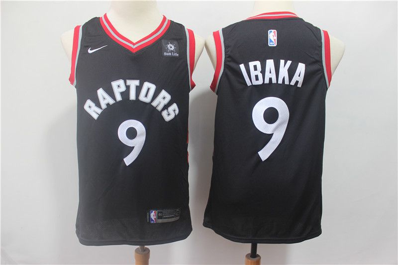 Men Toronto Raptors 9 Ibaka Black Nike Game NBA Jerseys