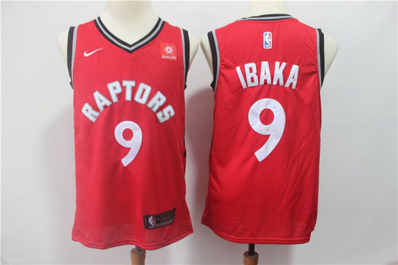 Men Toronto Raptors 9 Ibaka Red Nike Game NBA Jerseys