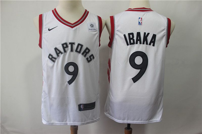 Men Toronto Raptors 9 Ibaka White Nike Game NBA Jerseys