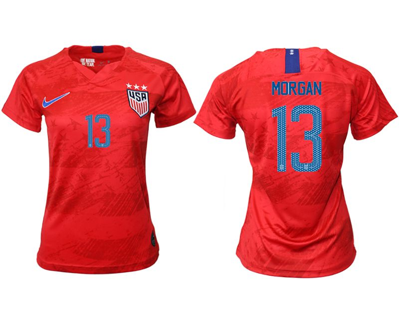 Women 2019-2020 Season National Team America away aaa 13 red Soccer Jerseys1