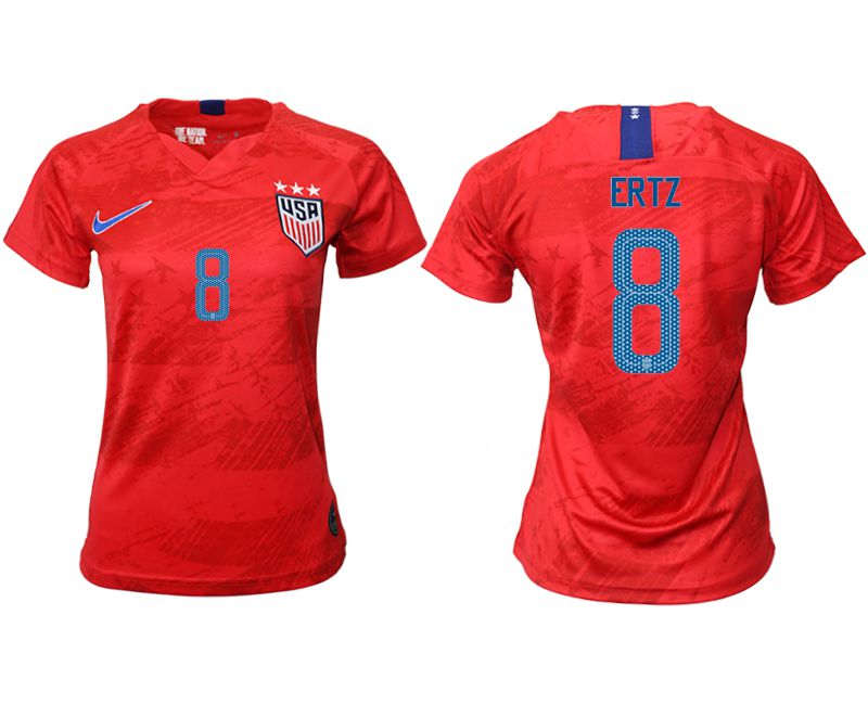 Women 2019-2020 Season National Team America away aaa 8 red Soccer Jerseys1