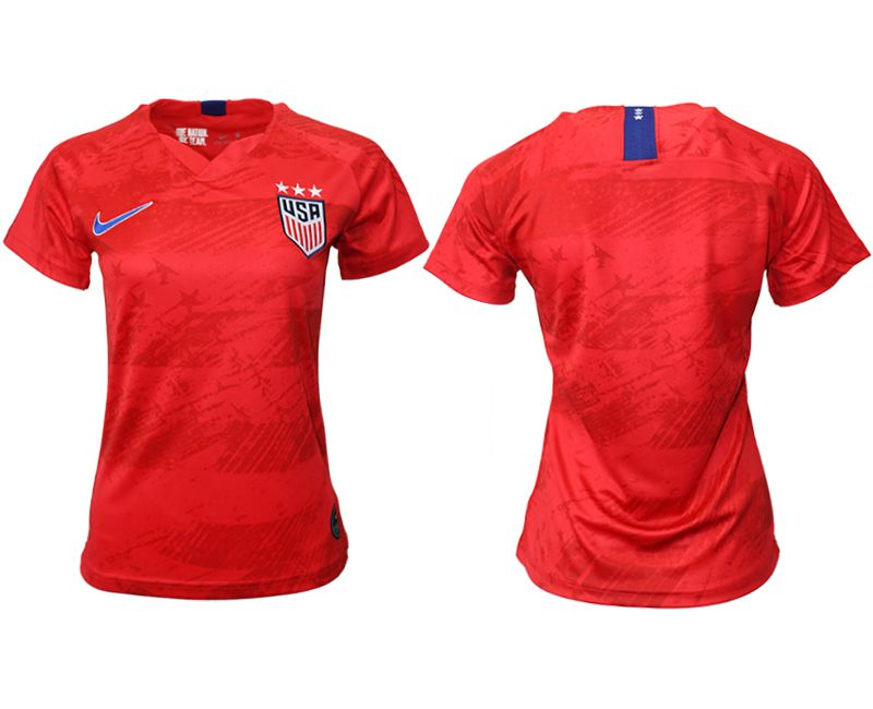 Women 2019-2020 Season National Team America away aaa red Soccer Jerseys