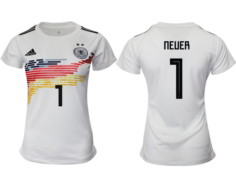 Women 2019-2020 Season National Team Germany home aaa version 1 white Soccer Jerseys