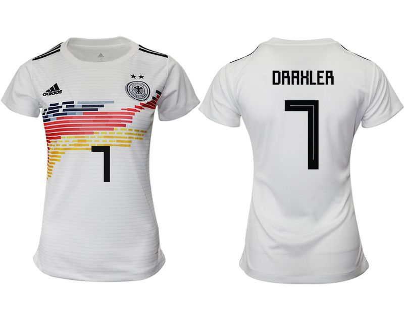 Women 2019-2020 Season National Team Germany home aaa version 7 white Soccer Jerseys