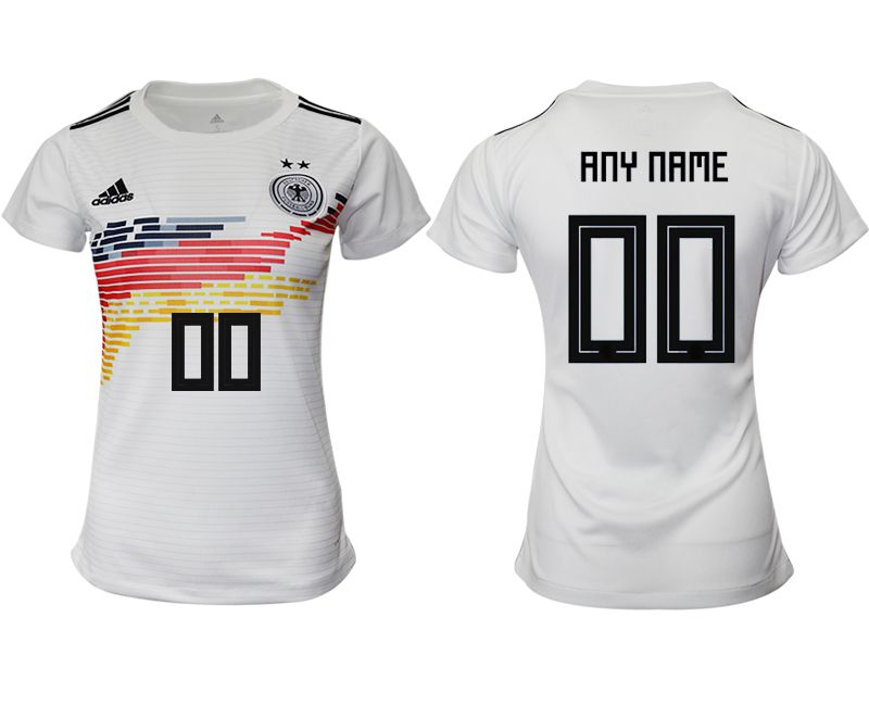 Women 2019-2020 Season National Team Germany home aaa version customized white Soccer Jerseys