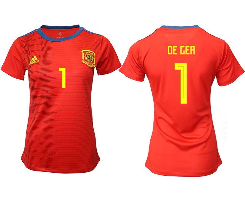 Women 2019-2020 Season National Team Spain home aaa version 1 red Soccer Jerseys