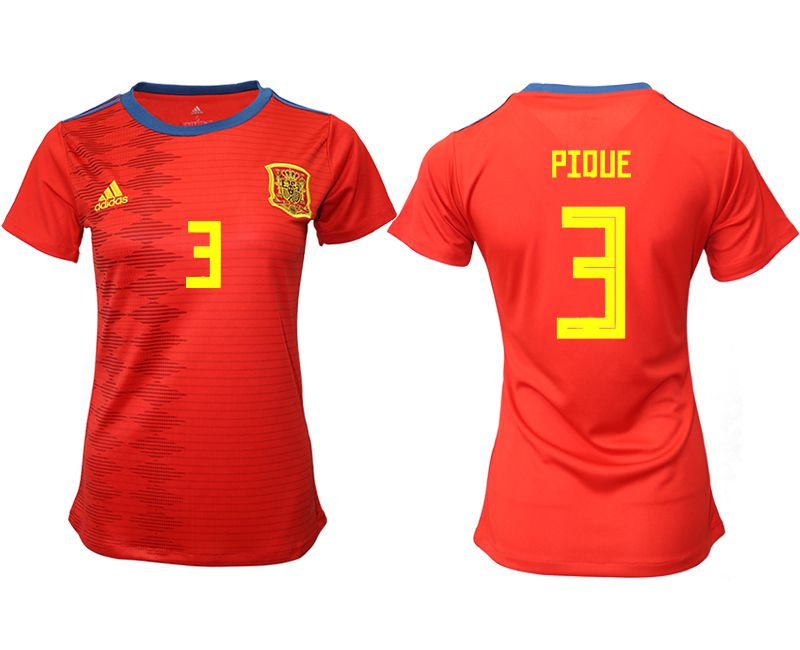 Women 2019-2020 Season National Team Spain home aaa version 3 red Soccer Jerseys
