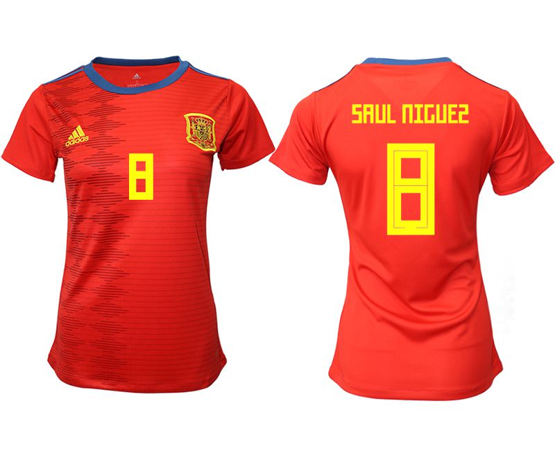Women 2019-2020 Season National Team Spain home aaa version 8 red Soccer Jerseys