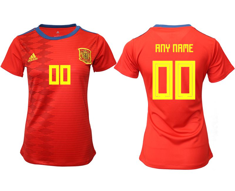 Women 2019-2020 Season National Team Spain home aaa version customized red Soccer Jerseys