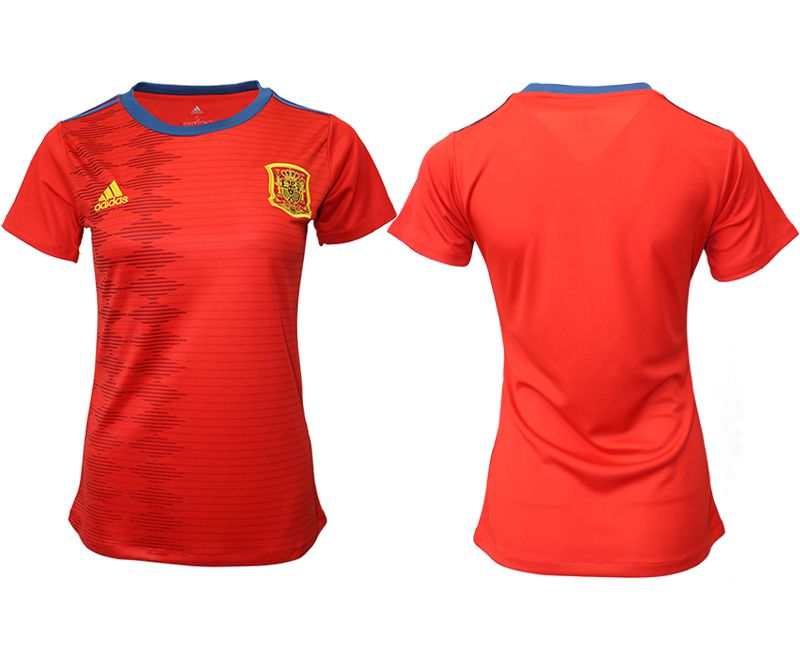Women 2019-2020 Season National Team Spain home aaa version red Soccer Jerseys
