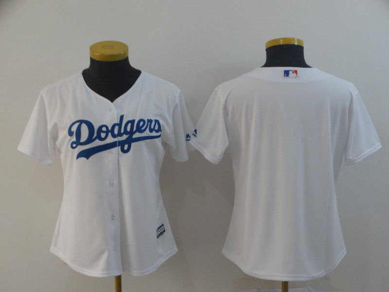 Women Los Angeles Dodgers Blank White Game MLB Jersey