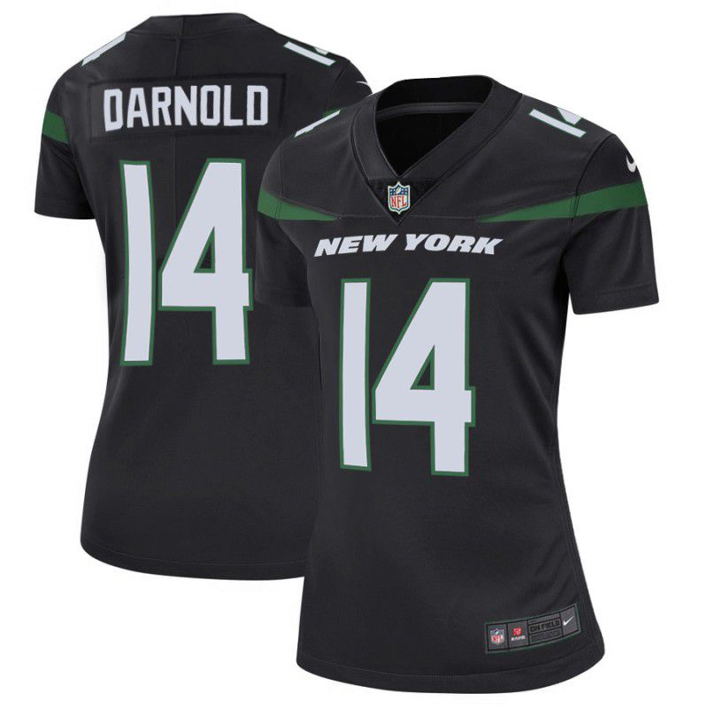 Women New York Jets 14 Darnold Black Nike Vapor Untouchable Limited Player NFL Jerseys
