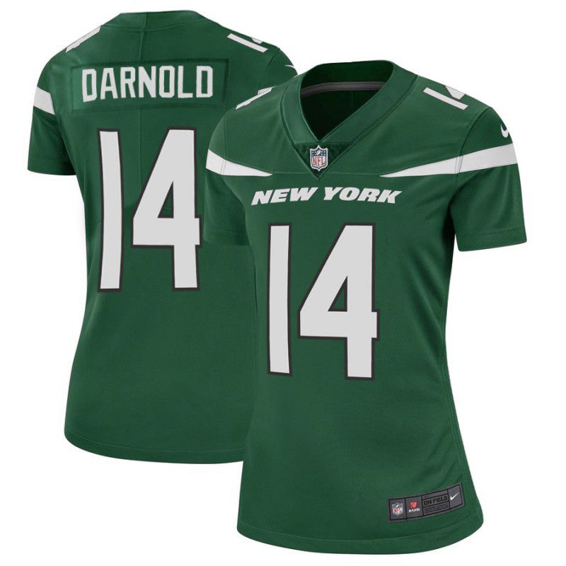 Women New York Jets 14 Darnold Green Nike Vapor Untouchable Limited Player NFL Jerseys