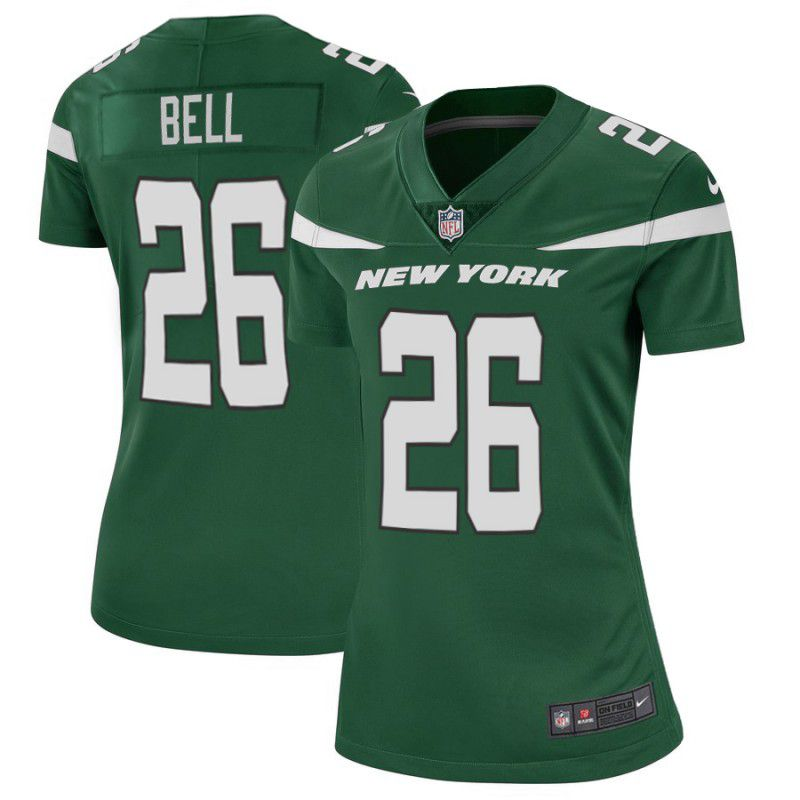 Women New York Jets 26 Bell Green Nike Vapor Untouchable Limited Player NFL Jerseys