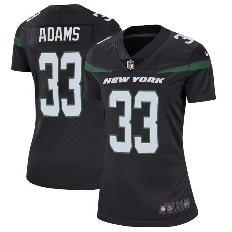 Women New York Jets 33 Adams Black Nike Vapor Untouchable Limited Player NFL Jerseys