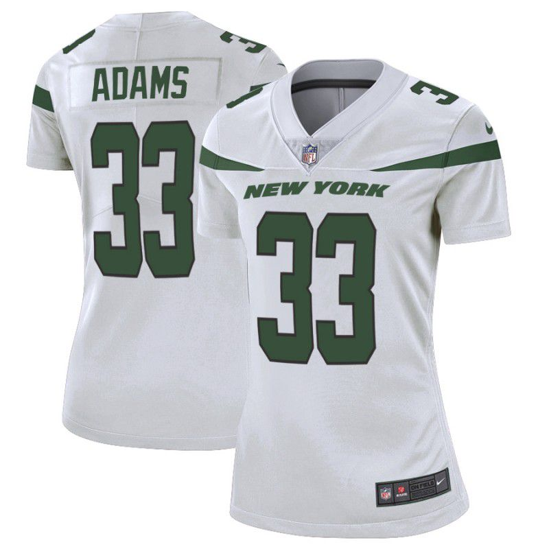 Women New York Jets 33 Adams White Nike Vapor Untouchable Limited Player NFL Jerseys